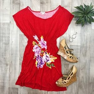 One Clothing red floral dress size S